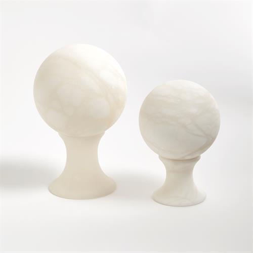 Alabaster Sphere Stand-Sm