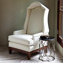 Bonnet Chair-Ivory Leather