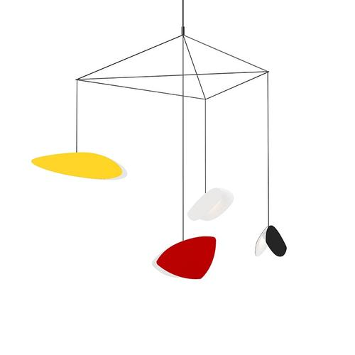 Sonneman - A Way of Light - Papillons LED Pendant [Size=4-Light Standard, Color/Finish=Assorted Shade Colors]