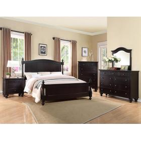 Sommer Queen Headboard Black Esp