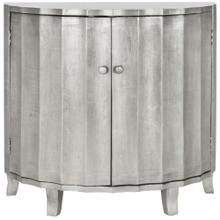 Rutherford Demilune Cabinet / Silver - Silver