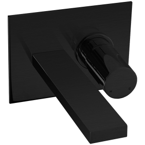 Otella In Wall Lav Faucet Black Product Image