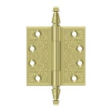 "4"" x 4"" Square Hinges - Polished Brass"