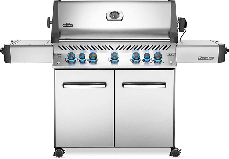 Napoleon BBQPrestige 665 Rsib With Infrared Side And Rear Burners , Stainless Steel , Natural Gas