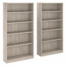 See Details - 5 Shelf Bookcase Set of 2, Washed Gray