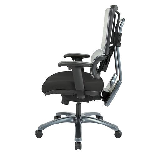 Office Star - Vertical Grey Mesh Back Chair With Titanium Base