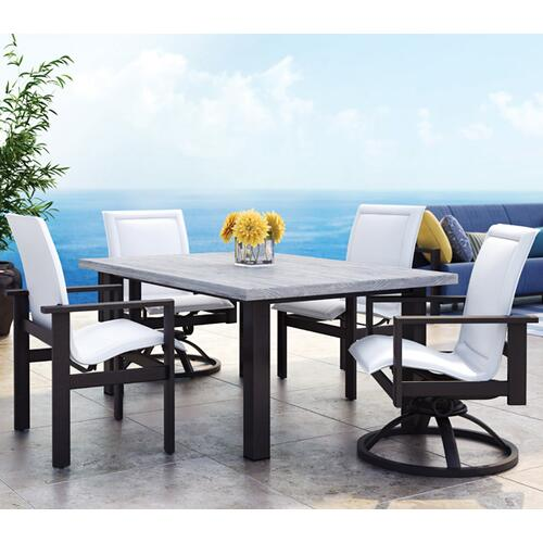 "42"" Round Balcony Table (with Hole) Ht: 34.25"" 37XX Universal Aluminum Base (Model # Includes Both Top & Base)"