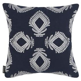 Blossom Pillow - Navy / Periwinkle