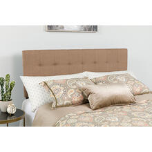 See Details - Bedford Tufted Upholstered Queen Size Headboard in Camel Fabric