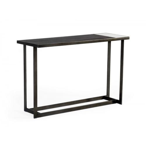 Modrest Fargo - Modern Ceramic & Grey Walnut Console Table