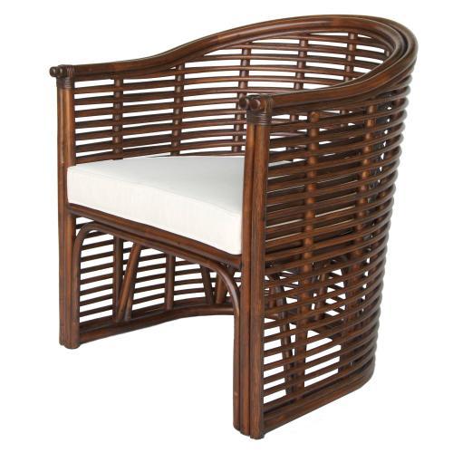Knox Rattan Tub Chair, Earth Tone Brown