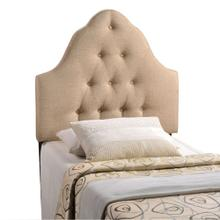 Sovereign Twin Upholstered Fabric Headboard in Beige
