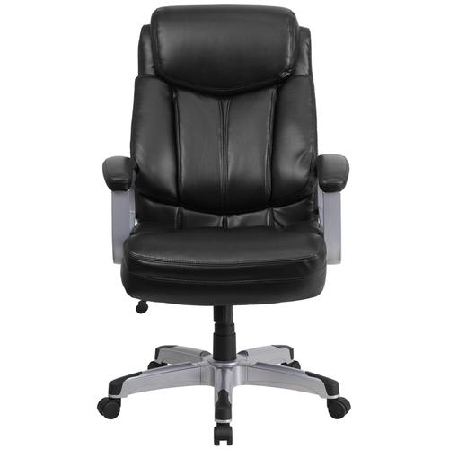 Gallery - HERCULES Series Big & Tall 500 lb. Rated Black LeatherSoft Executive Swivel Ergonomic Office Chair with Arms