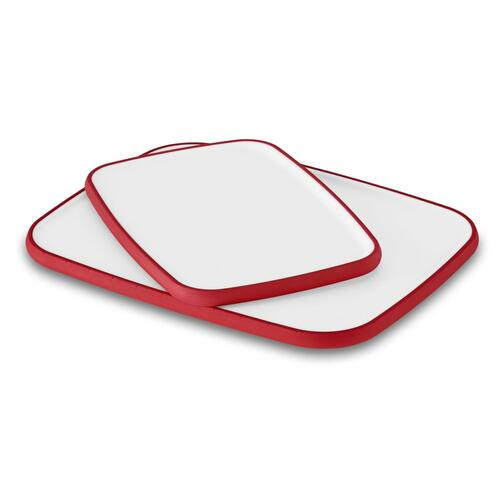 Two Pack Poly Cutting Boards - Signature Red