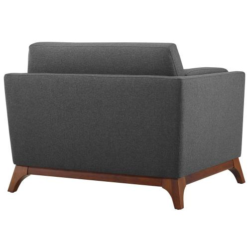 Modway - Chance Upholstered Fabric Armchair in Gray
