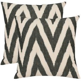 Chevron Pillow - Charcoal