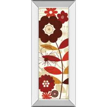 """Floral Pop Panel I"" By Mo Mullan Mirror Framed Print Wall Art"