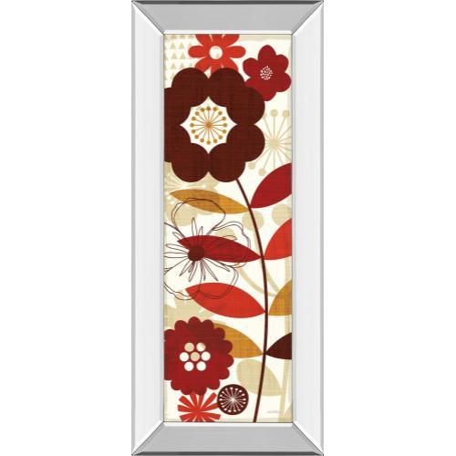 "Classy Art - ""Floral Pop Panel I"" By Mo Mullan Mirror Framed Print Wall Art"
