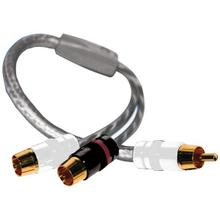 See Details - Twisted-Pair Strandworx Series RCA Y-Adapter, 1 Male to 2 Females