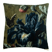 Velvet Iris & Butterfly Pillow