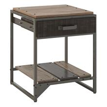 Refinery End Table with Drawer - Rustic Gray