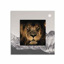 See Details - Lion With Background Miniature Fine Wall Art