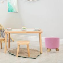 Critter Sitters 10-Inch Pink Upholstered Mini Foot Stool with Wooden Legs, CSFTSTL-PNK