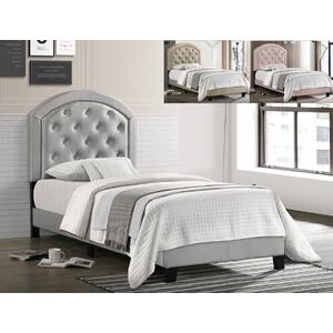 Gaby Full Platform Bed Adj Hb Gold