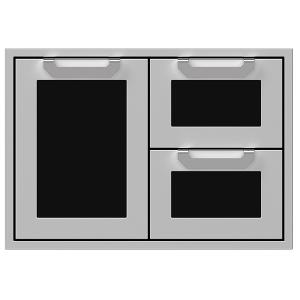 """30"""" Hestan Outdoor Combo Door/Drawer - AGSDR Series - Stealth"""