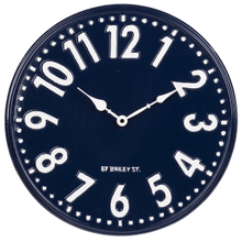 Small Blue & White Enamel Wall Clock