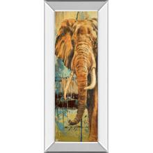 """New Safari On Teal Il"" By Patricia Pinto Mirror Framed Print Wall Art"