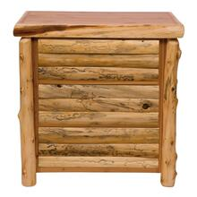 Log Front Three Drawer Chest - Natural Cedar - Log Front - Value