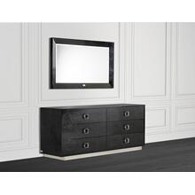 A&X Victoria Modern Black Crocodile Dresser