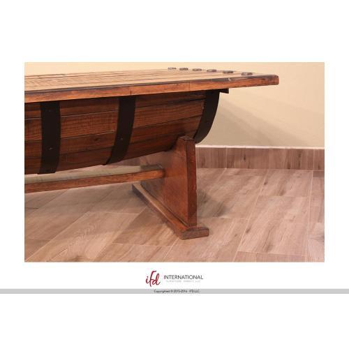 Artisan Home Furniture - Cocktail Table w/wood Barrel shape