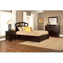 Metro 4pc Espresso Bedroom with Riva Queen Storage Bed