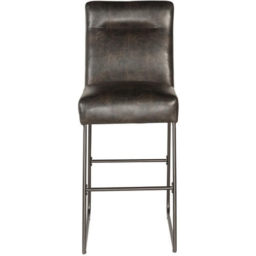 Industrial Faux Leather Barstool