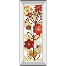 """""""Floral Pop Panel Il"""" By Mo Mullan Mirror Framed Print Wall Art"""