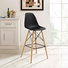 See Details - Pyramid Bar Stool in Black