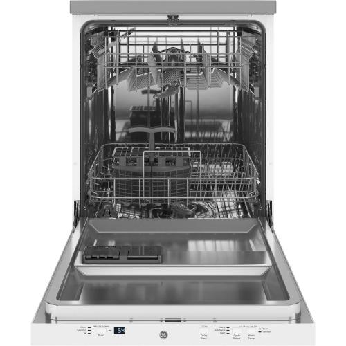 """GE® 24"""" Stainless Steel Interior Portable Dishwasher with Sanitize Cycle"""