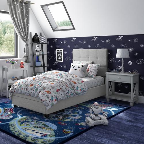 Accentrics Home - Twin Storage Bed in Glacier