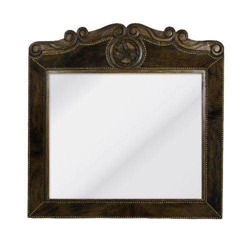 """L.M.T. Rustic and Western Imports - Large Cowhide Mirror 48"""" X 48"""""""