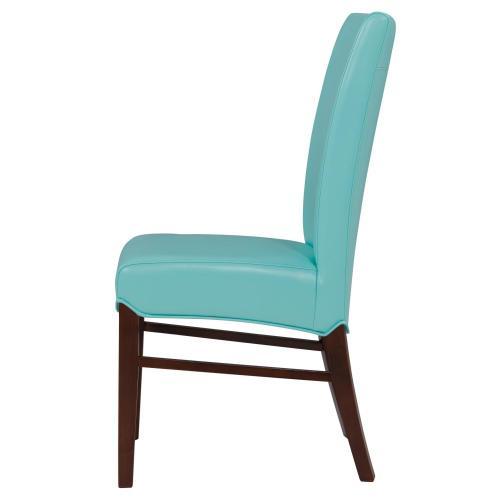 Milton Bonded Leather Chair, Aqua
