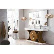 "Oasis 72"" Double Bathroom Vanity, Natural Zebrano Wood"