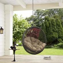 Hide Outdoor Patio Swing Chair Without Stand in Gray Mocha