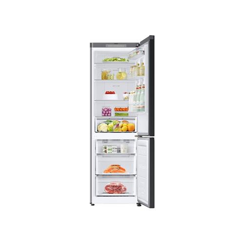 12.0 cu. ft. BESPOKE Bottom Freezer refrigerator with customizable colors and flexible design in White Glass