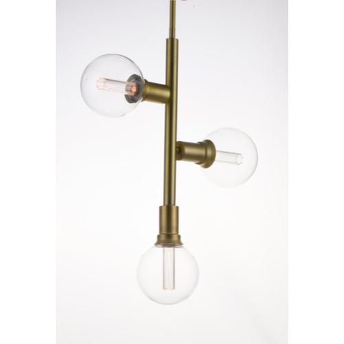 Molecule 3-Light Pendant with G40 CL LED Bulbs