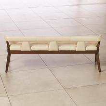 Moderno Bench-Ivory Marble Leather