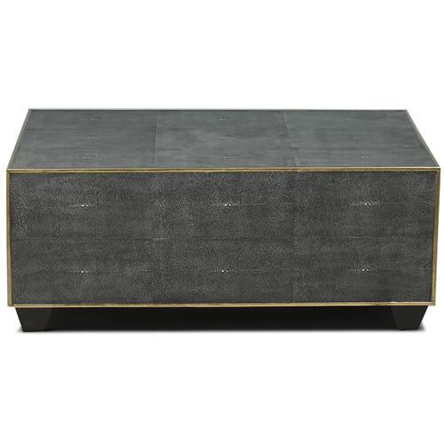 *Grey Leather Shagreen Cocktail Table