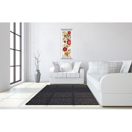"Classy Art - ""Floral Pop Panel Il"" By Mo Mullan Mirror Framed Print Wall Art"