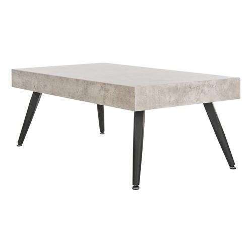 Safavieh - Cedric Rectangular Midcentury Modern Coffee Table - Light Grey / Black
